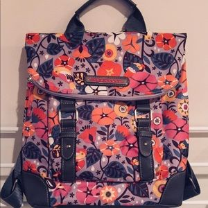 Lily Bloom Gwen gray multi floral gnome backpack